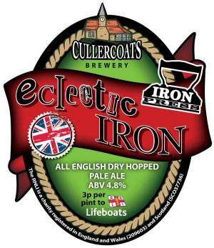 Label design for Eclectic IRON Ale, courtesy of Cullercoats Brewery